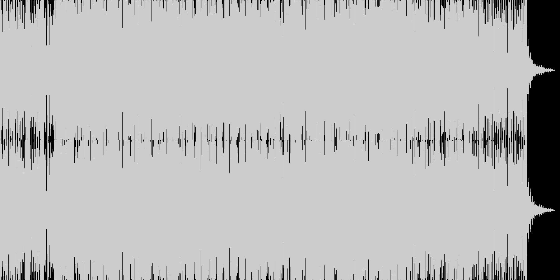 明るいテクノポップ風ハウスサウンドの未再生の波形