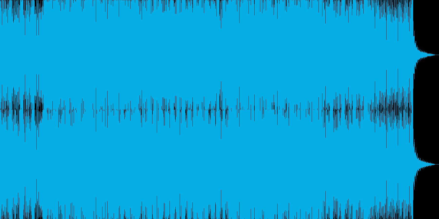 明るいテクノポップ風ハウスサウンドの再生済みの波形
