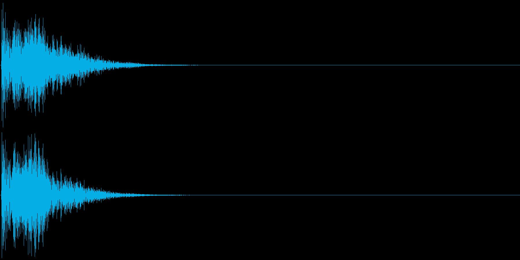 シンセ音(決定音、操作、アプリ、ゲーム)の再生済みの波形