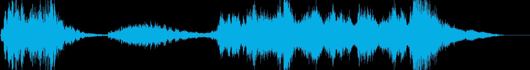 オシャレな4秒サウンドロゴの再生済みの波形