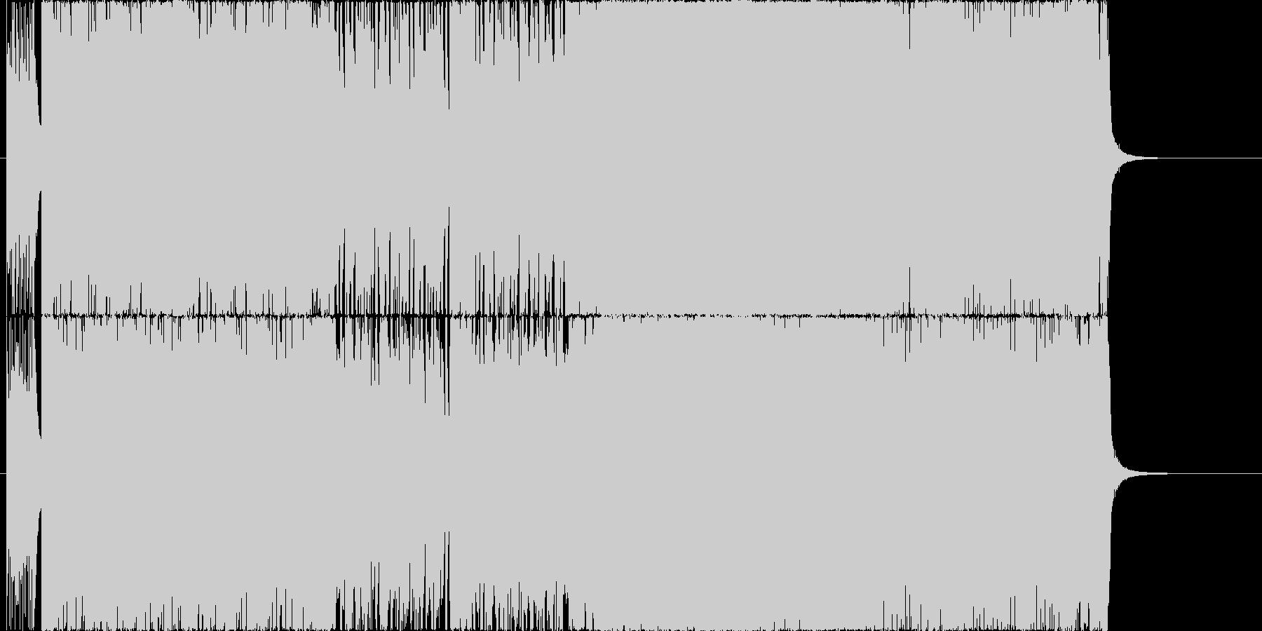 ヘヴィで攻撃的なサウンドの未再生の波形