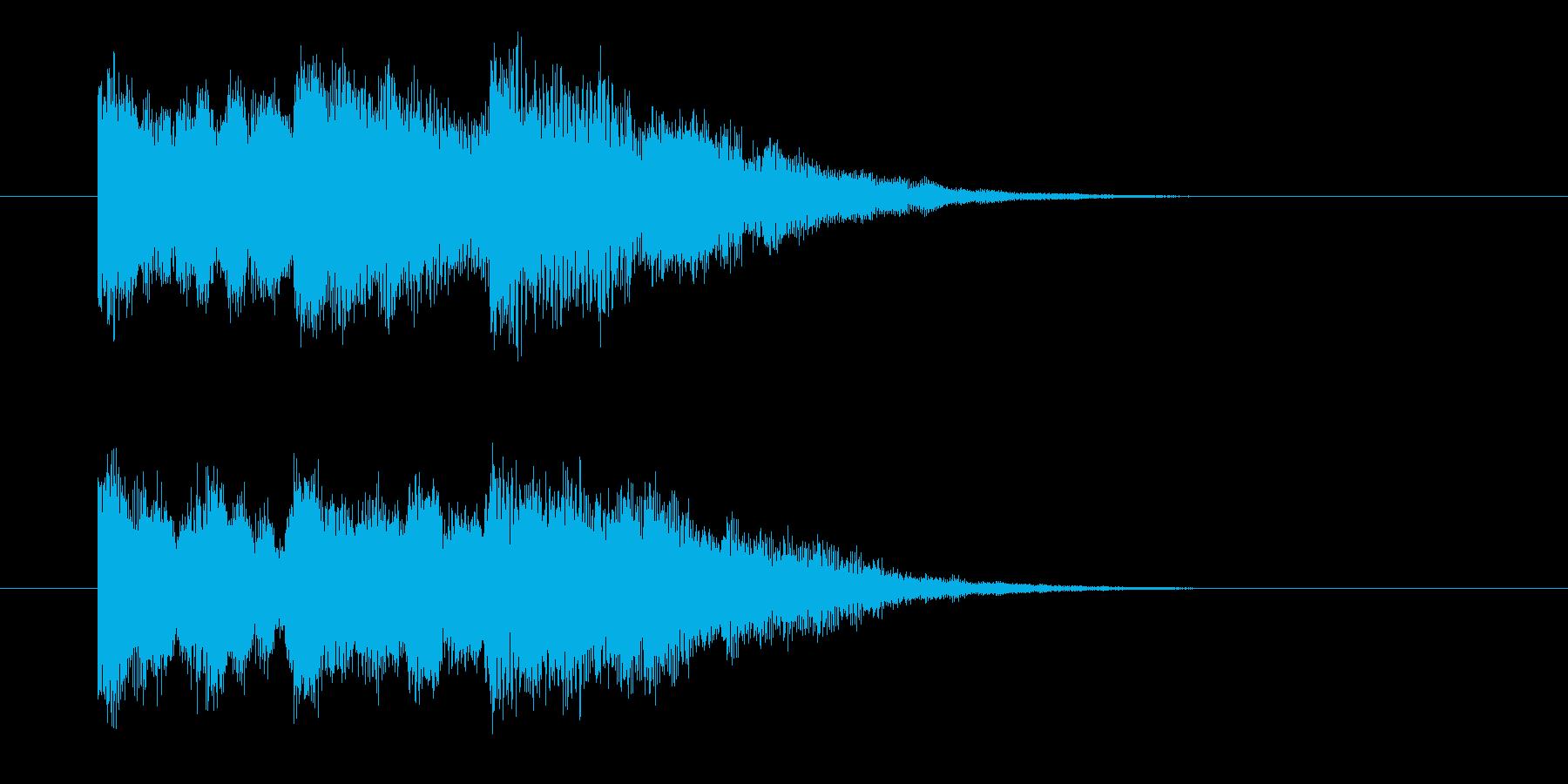ラジオに合う爽やかシンセベルジングルの再生済みの波形