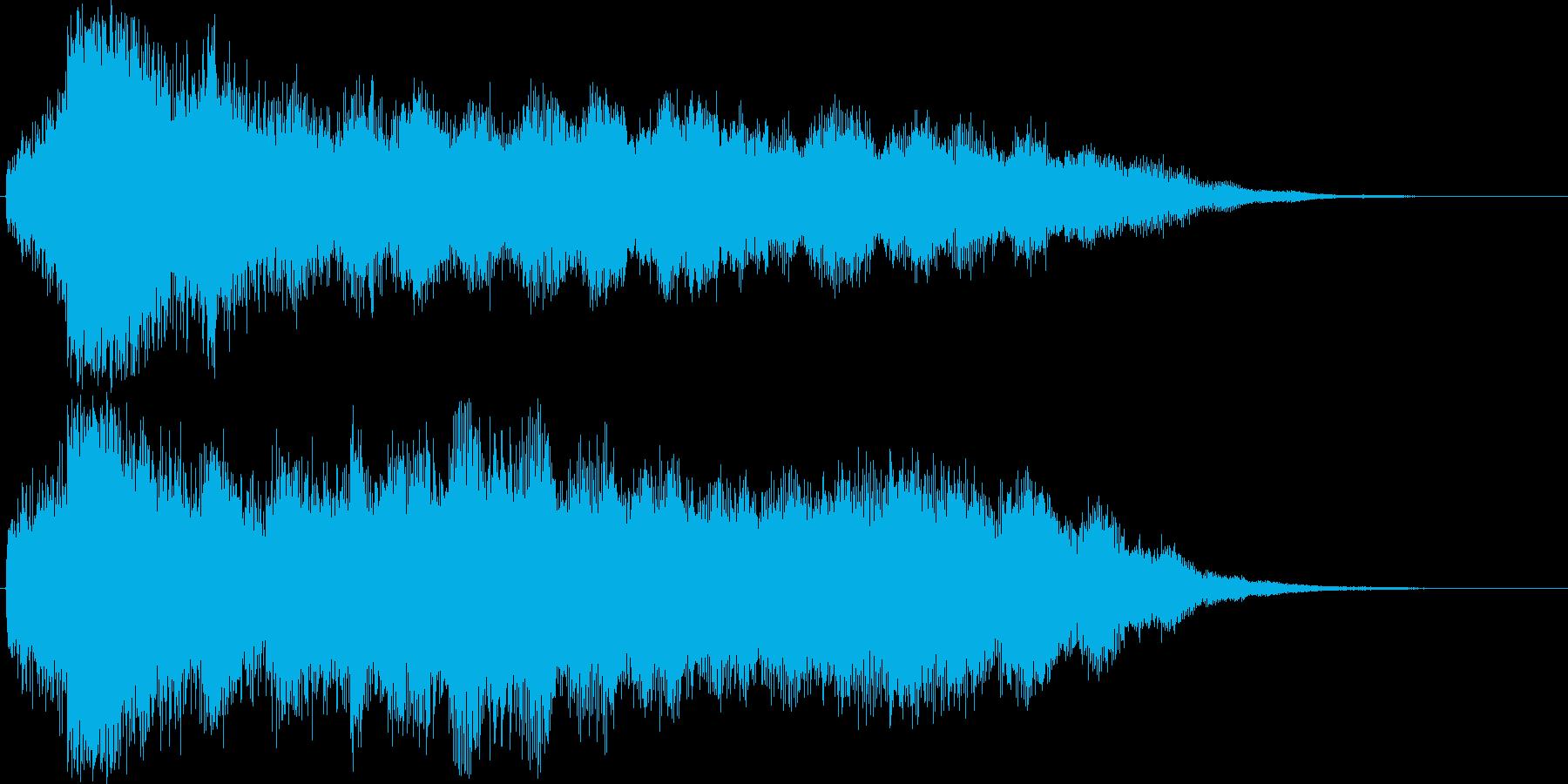 企業ロゴ等の表示音にの再生済みの波形