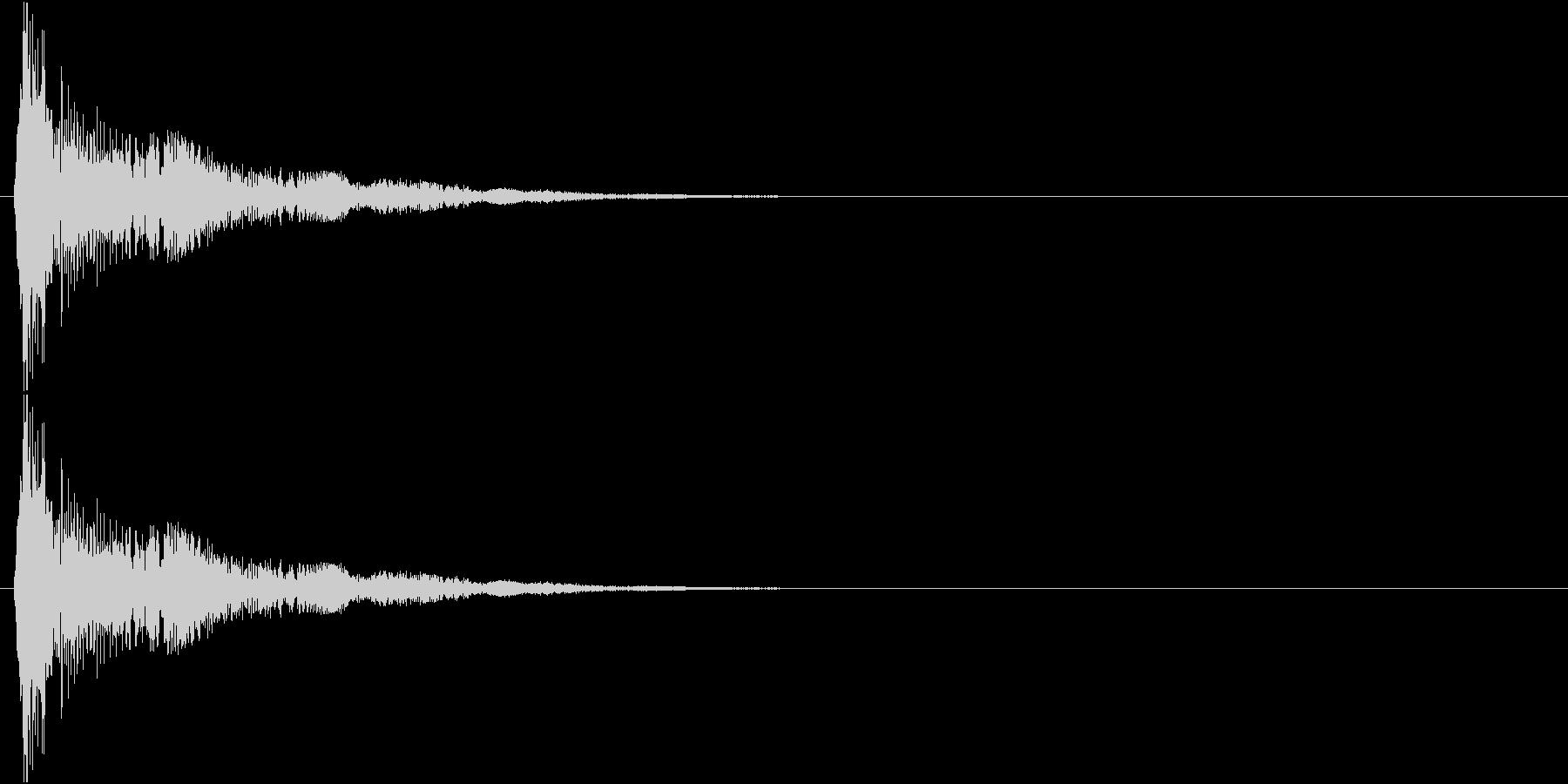 キュワキュワ…↑(水蒸気、雲、浮かぶ)の未再生の波形