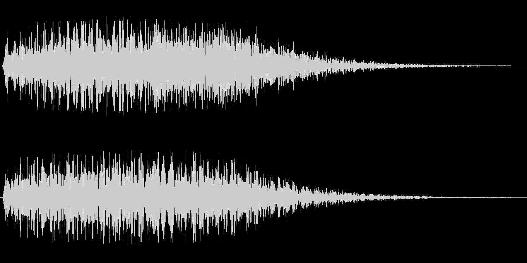 コミカル飛行音(ポップなワープ音)の未再生の波形
