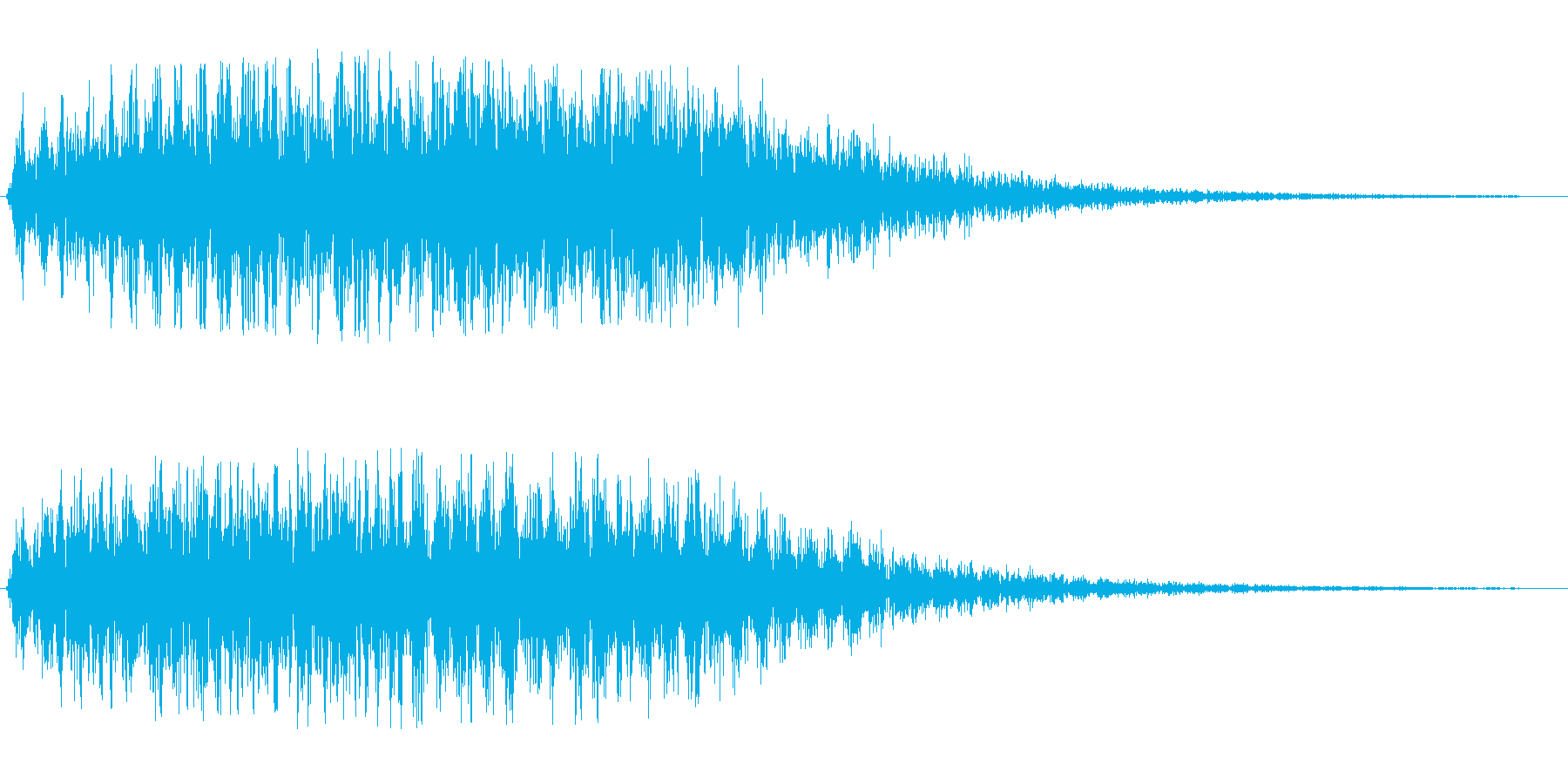 コミカル飛行音(ポップなワープ音)の再生済みの波形