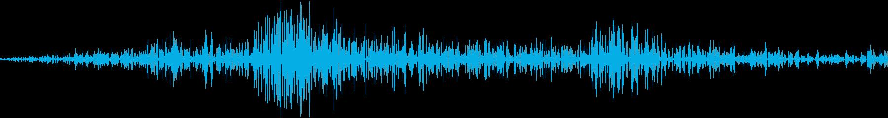 アプリの決定音の再生済みの波形