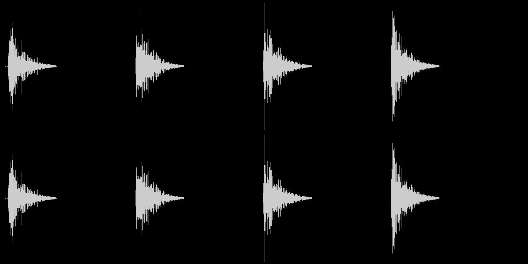 土をザックザックの未再生の波形
