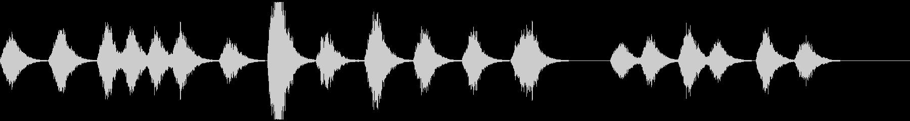 宇宙深海っぽいアンビエント ソナー音なしの未再生の波形