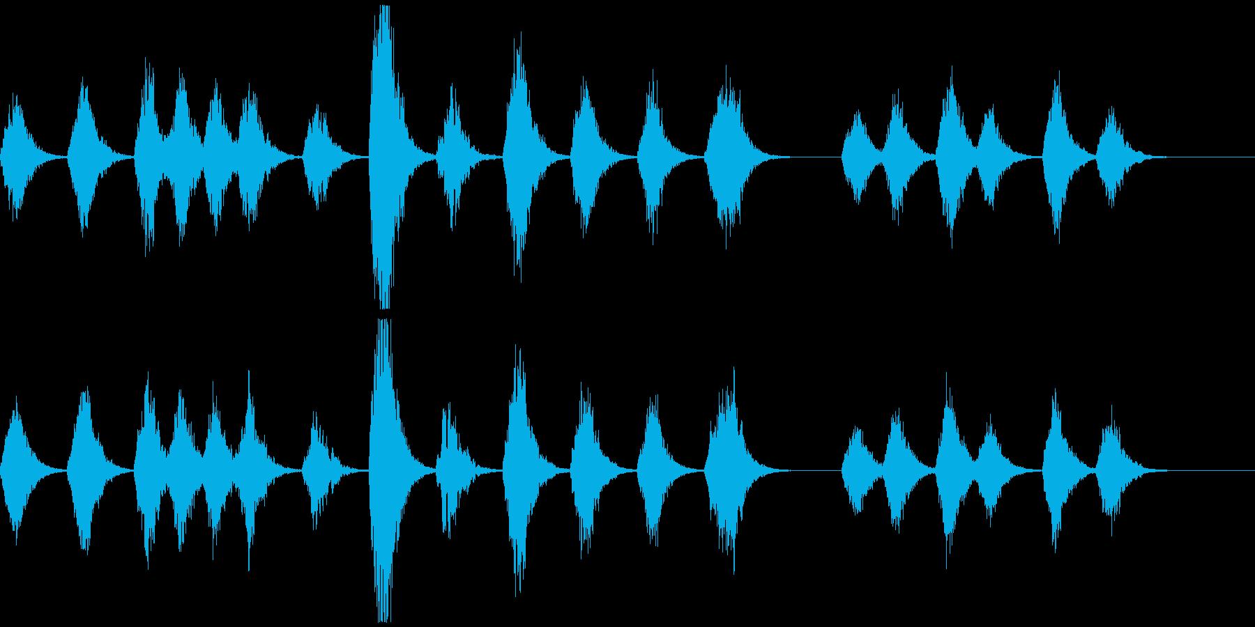 宇宙深海っぽいアンビエント ソナー音なしの再生済みの波形