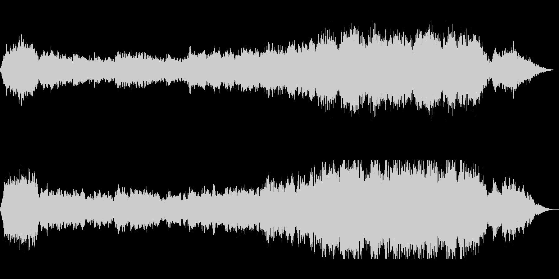 クラリネットのオーケストラサウンドの未再生の波形
