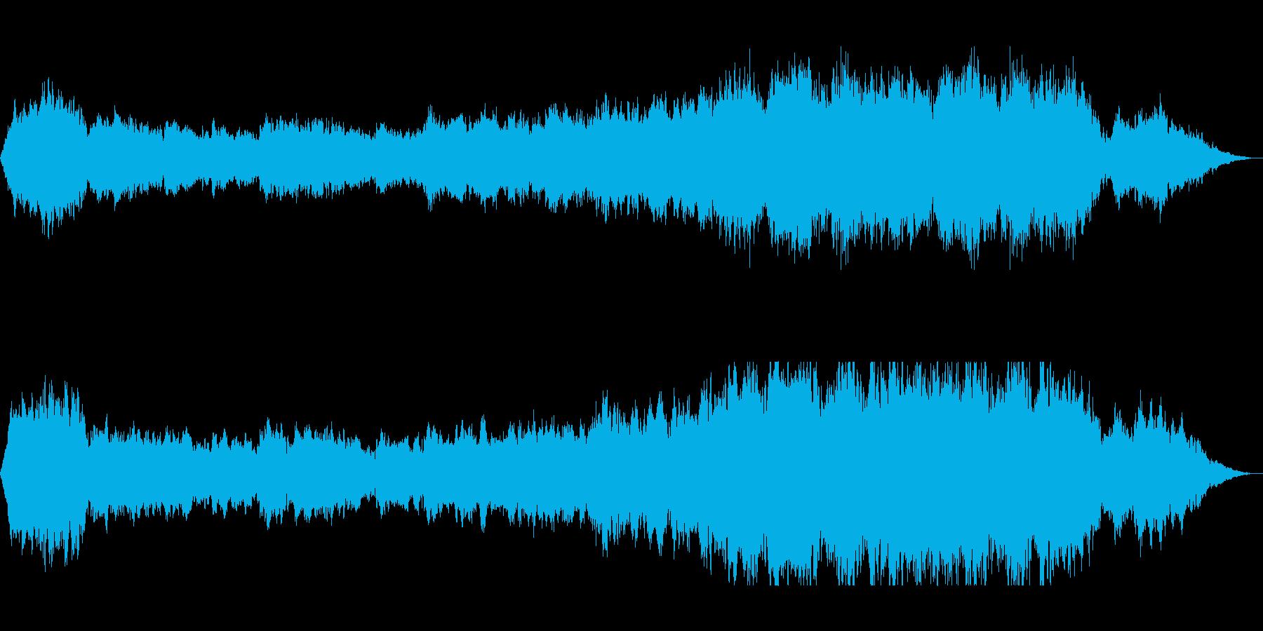 クラリネットのオーケストラサウンドの再生済みの波形
