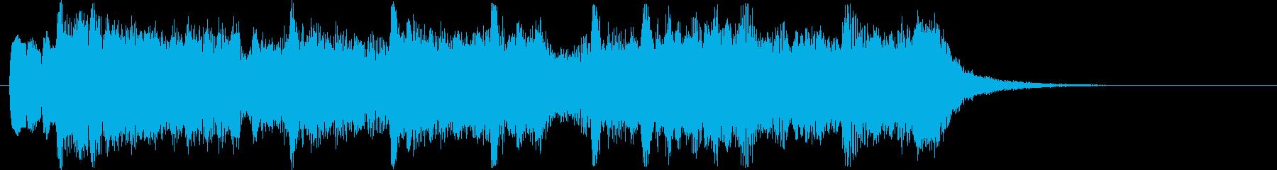 綺麗で可愛いリラクゼーションミュージックの再生済みの波形
