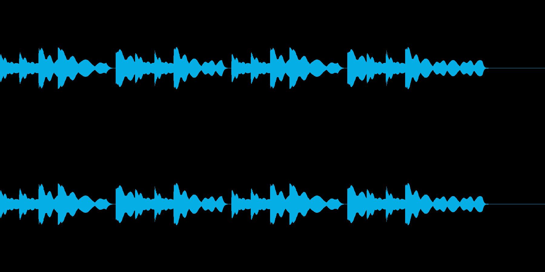 チャイム(最終下校時刻)の再生済みの波形