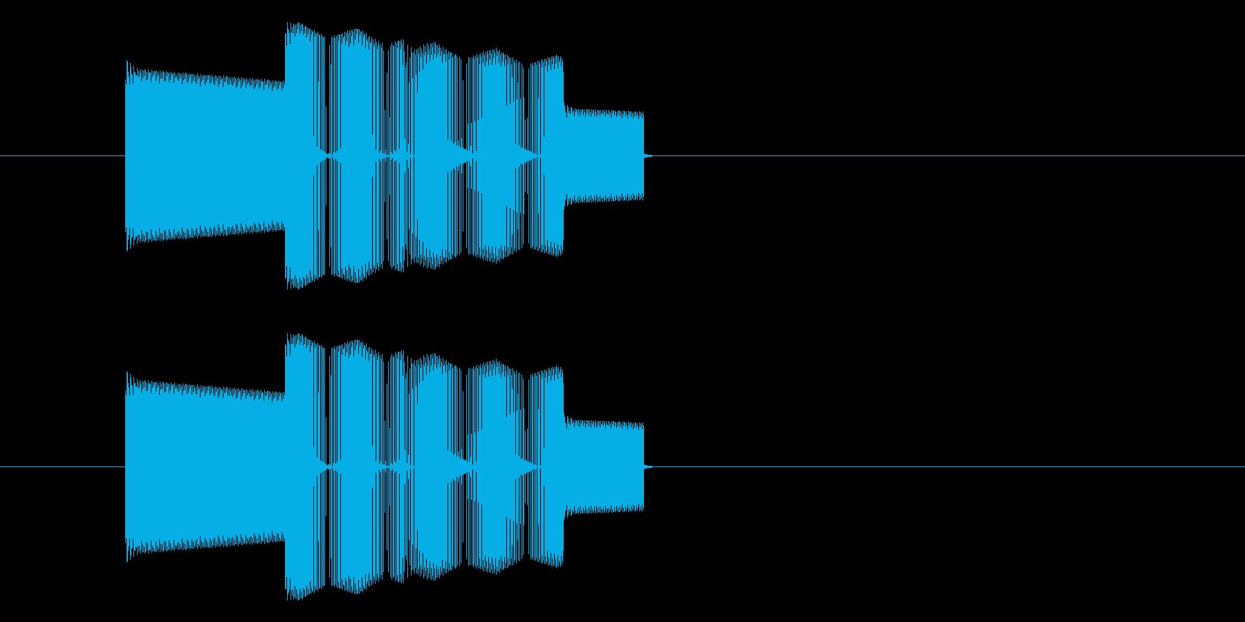 RPGゲーム・攻撃・ミス・空振り・中音の再生済みの波形