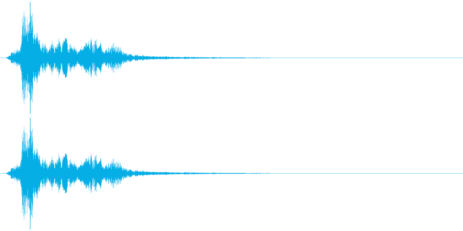 ドラゴンの鳴き声の再生済みの波形
