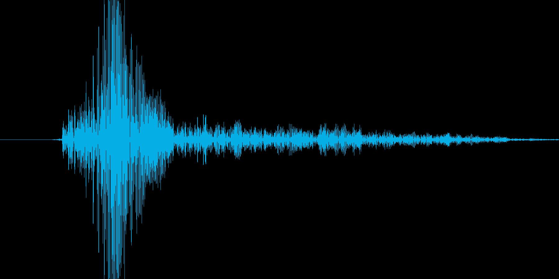 フワッ!というシステム音の再生済みの波形