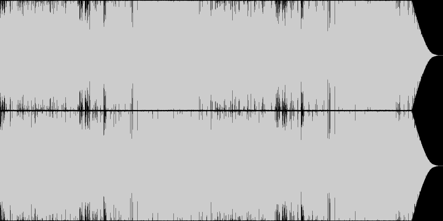 テンポ速めの熱い戦闘曲の未再生の波形