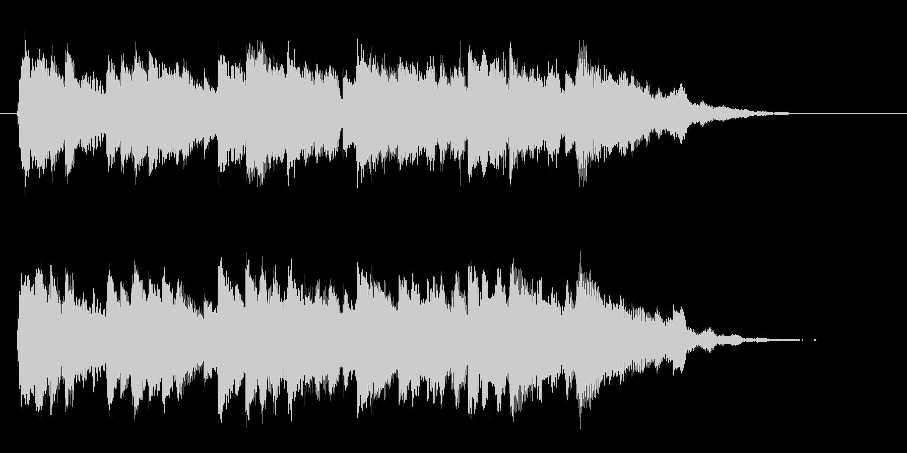 優しいピアノのジングル曲、サウンドロゴの未再生の波形