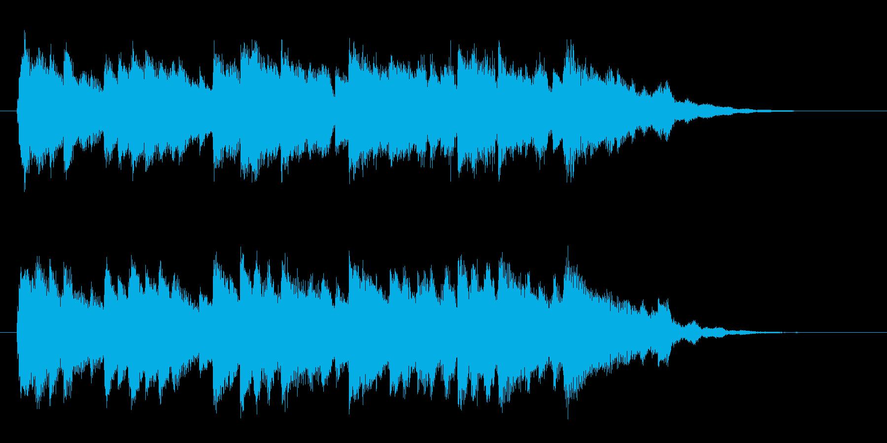 優しいピアノのジングル曲、サウンドロゴの再生済みの波形