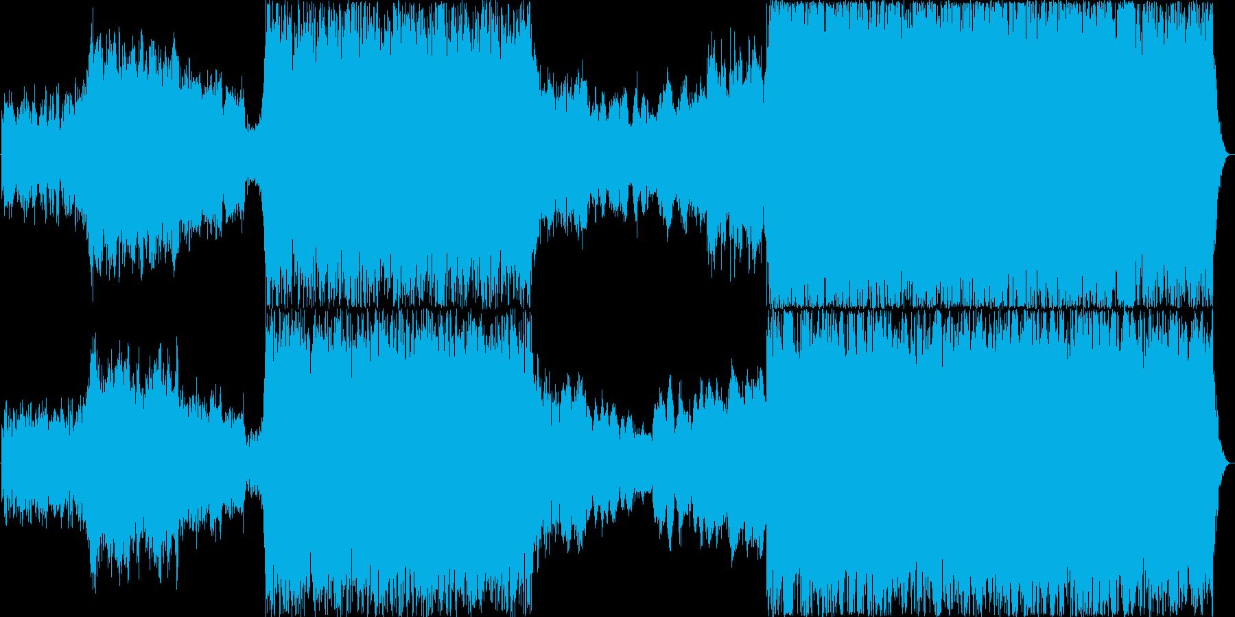 力強いパーカッションとオーケストラBGMの再生済みの波形
