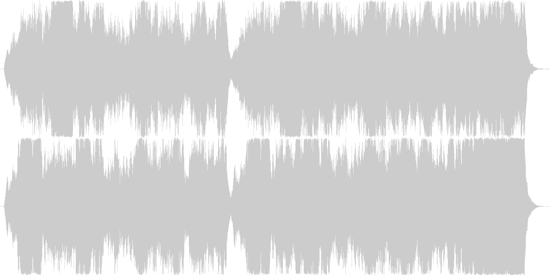 切ない情景のストリングスの未再生の波形