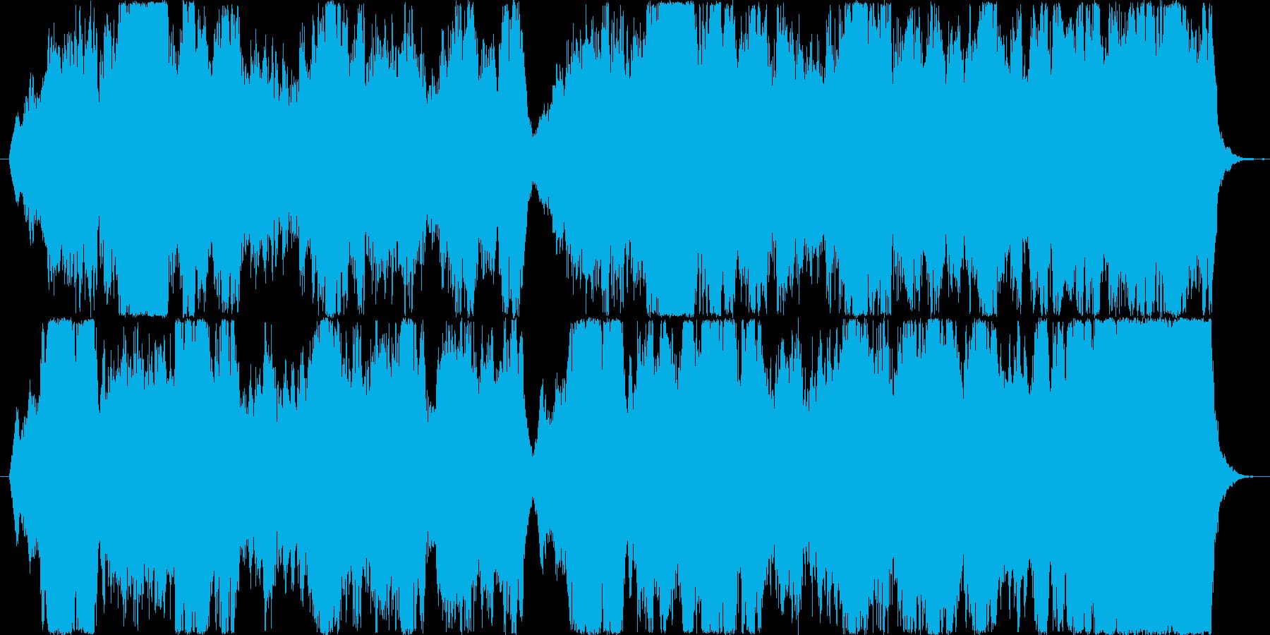 切ない情景のストリングスの再生済みの波形