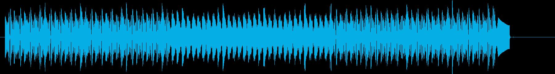 リズミカルなトランスBGMの再生済みの波形
