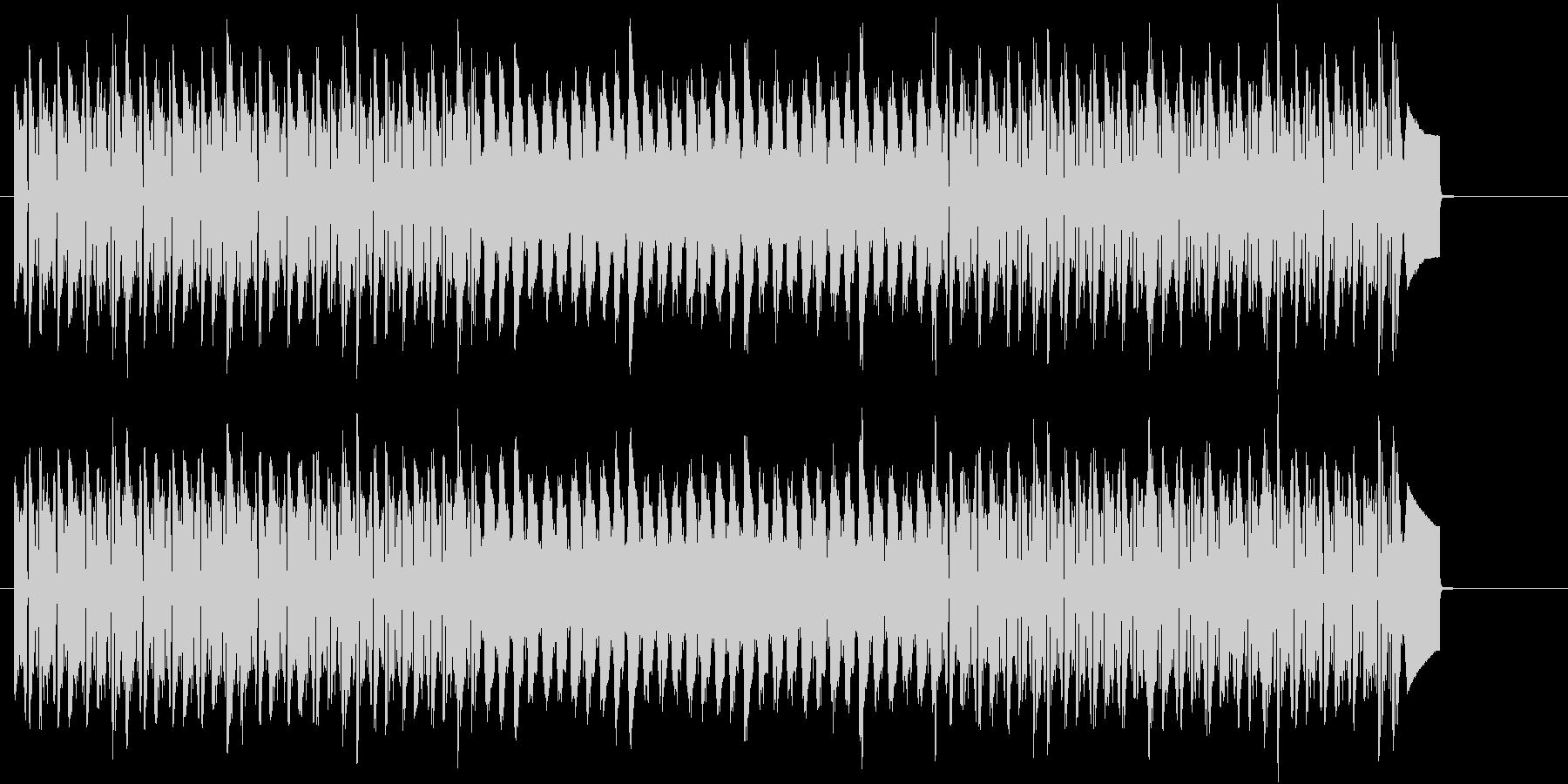 リズミカルなトランスBGMの未再生の波形
