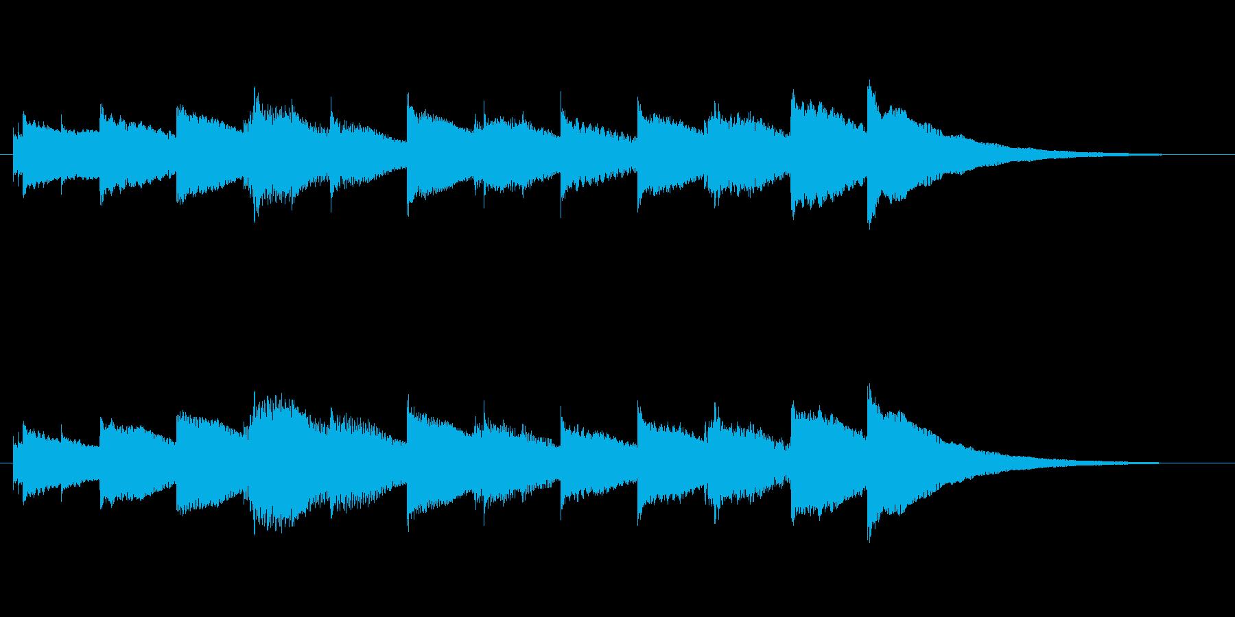 受信音、着信音の再生済みの波形