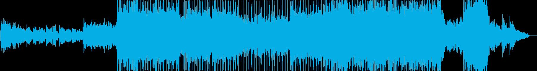 ポップ演歌風の物悲しい雰囲気のバラードの再生済みの波形