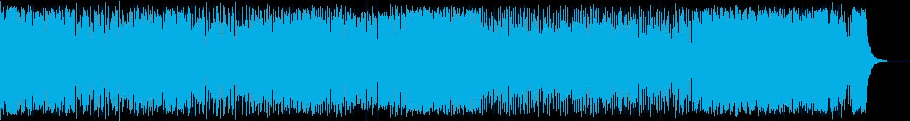 シューティングゲームのステージ1、2風の再生済みの波形
