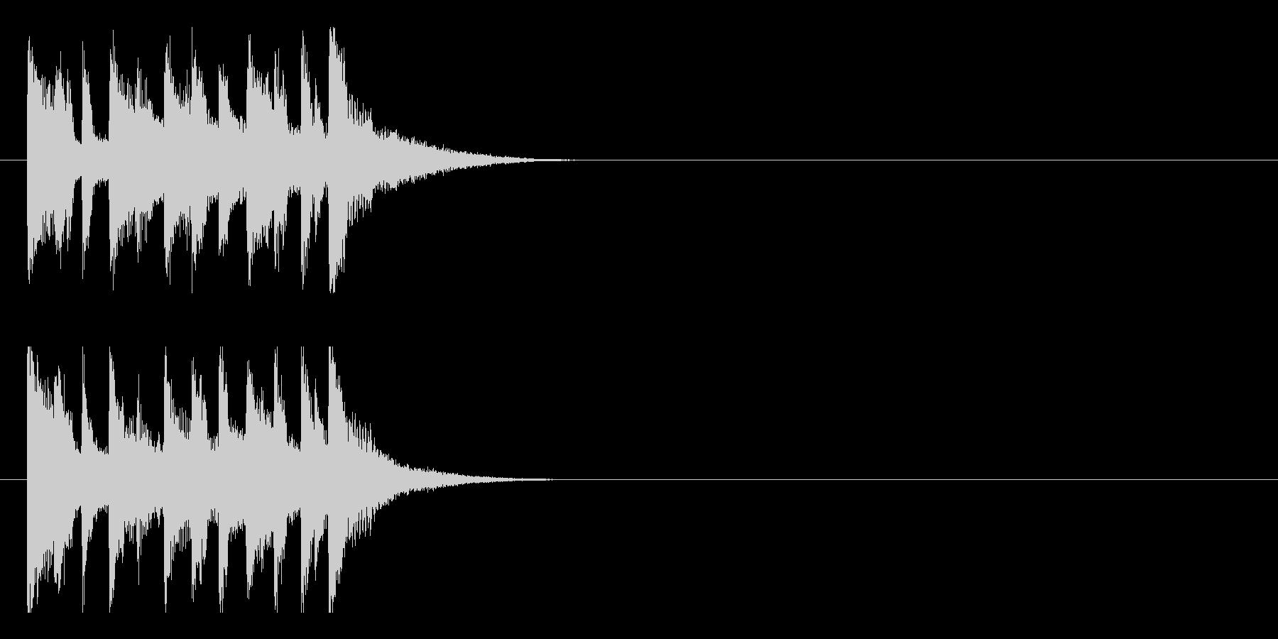いきいきはつらつとしたポップジングルの未再生の波形