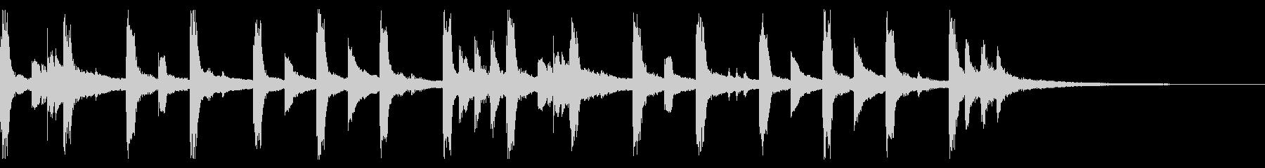 エンディングに合いそうなかわいいジングルの未再生の波形