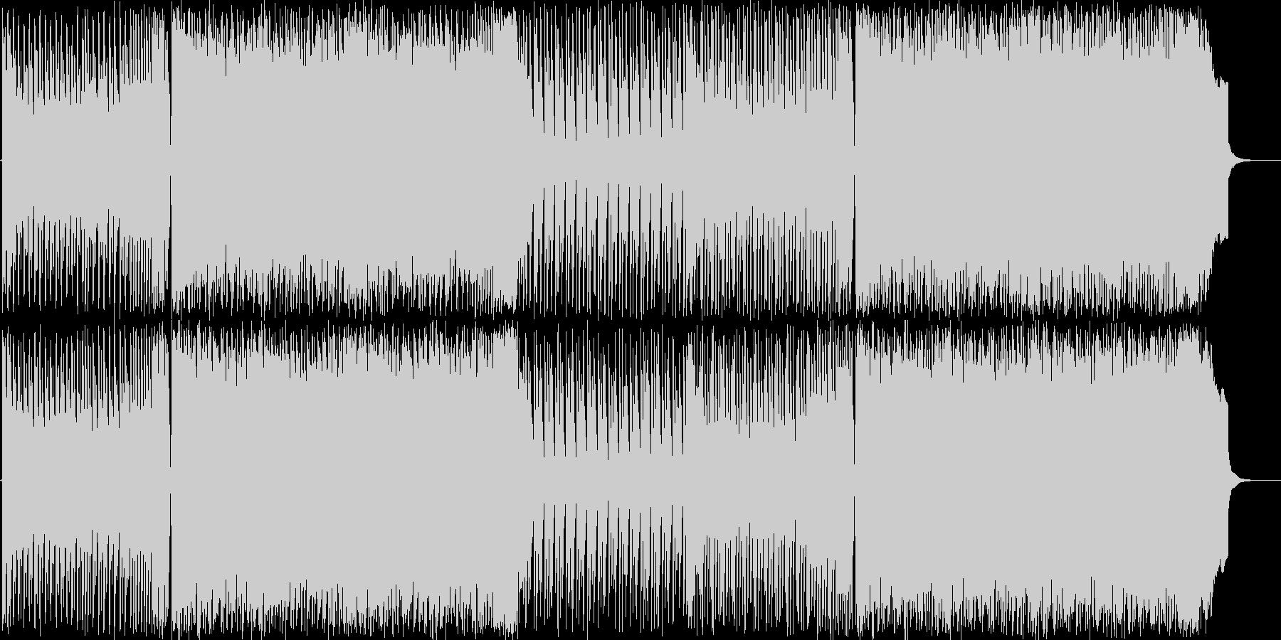 スピード感のあるトランス風楽曲の未再生の波形
