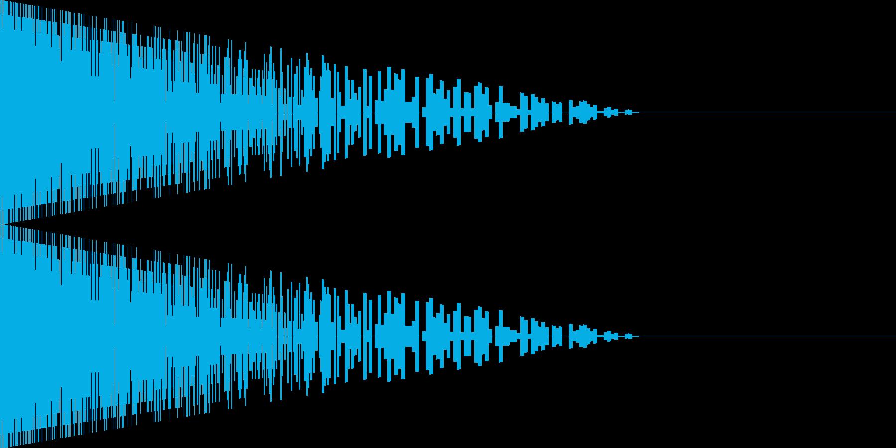 [ピューン]/レーザー/光線銃/銃/01の再生済みの波形