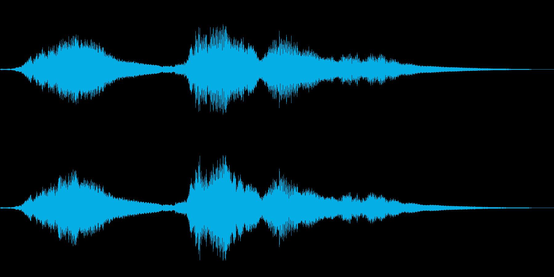 『ドロドロドロ・・』和製ドラの抑揚連打音の再生済みの波形