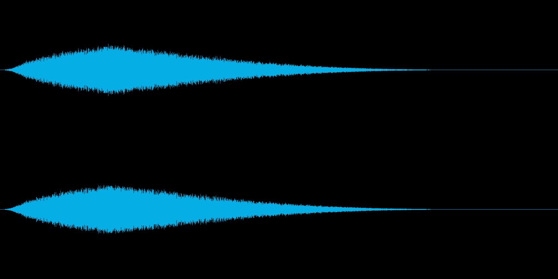 ザー...(海、波、海岸)の再生済みの波形