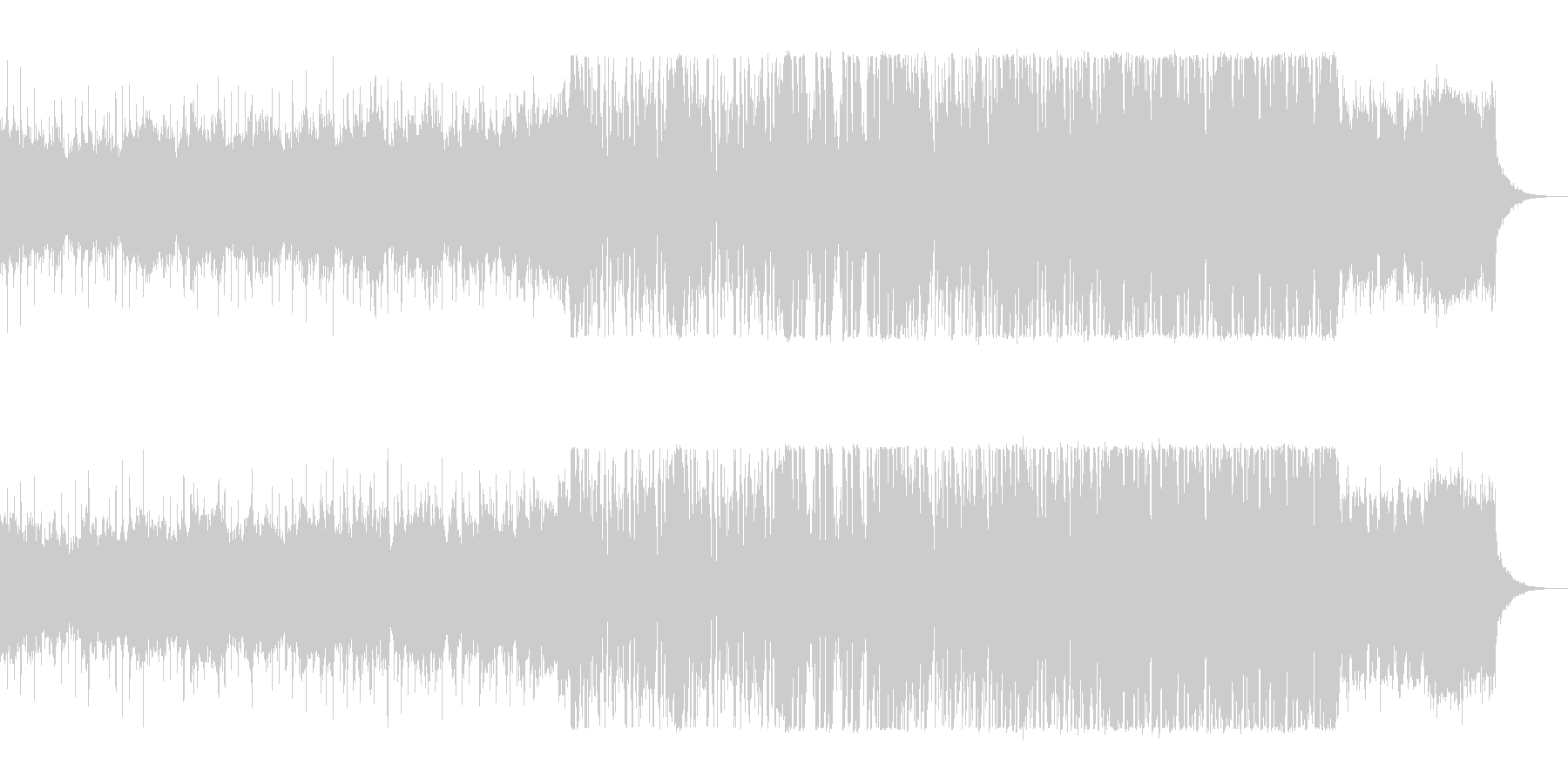リズミカルでキャッチ―なテクノポップの未再生の波形