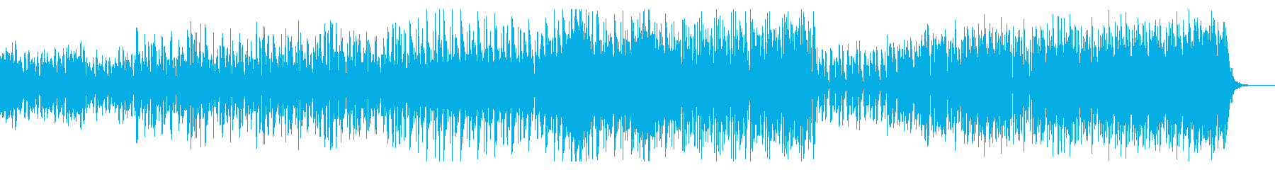 シンプルなアーバンビートの再生済みの波形