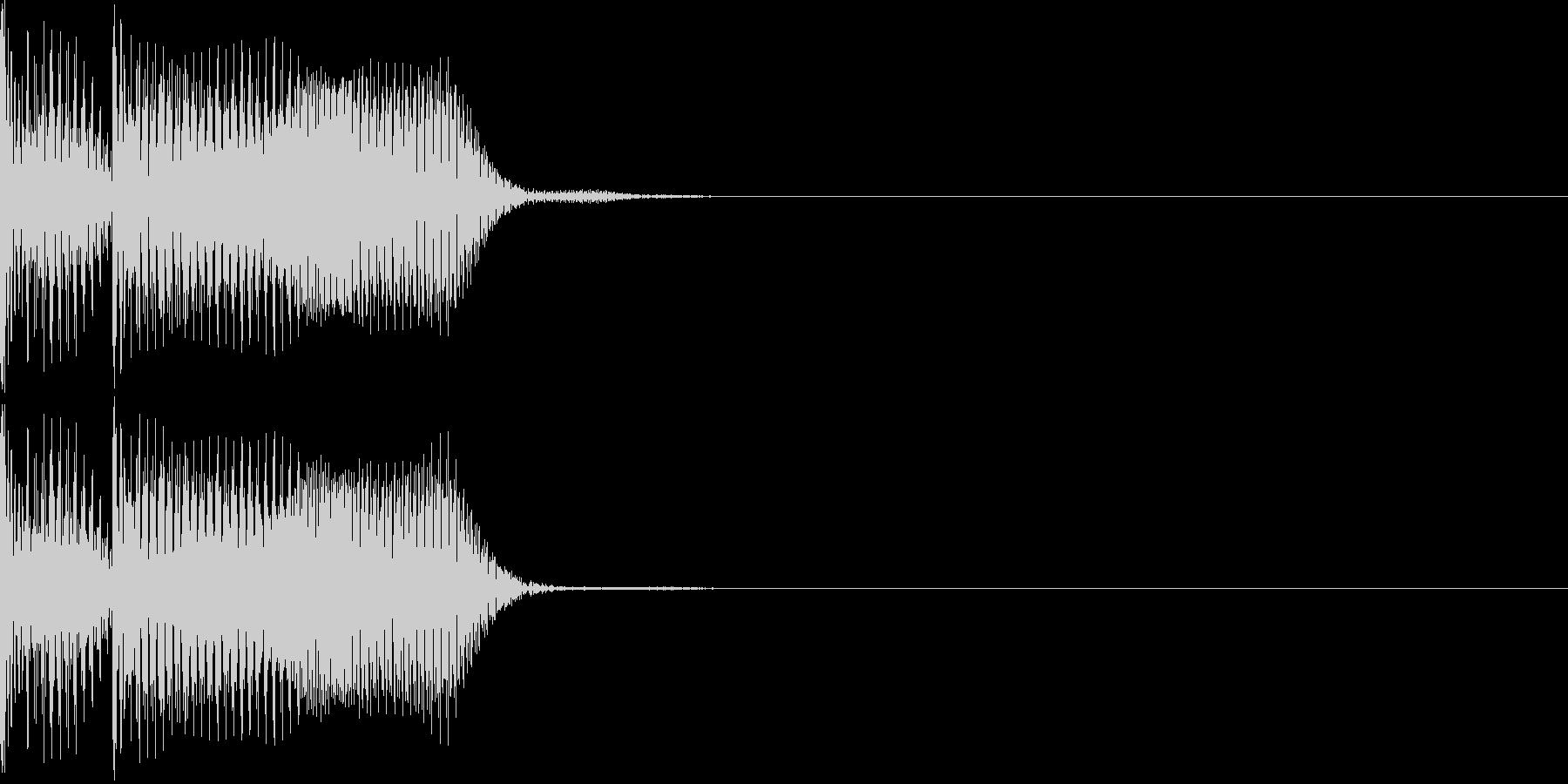 不正解音02の未再生の波形
