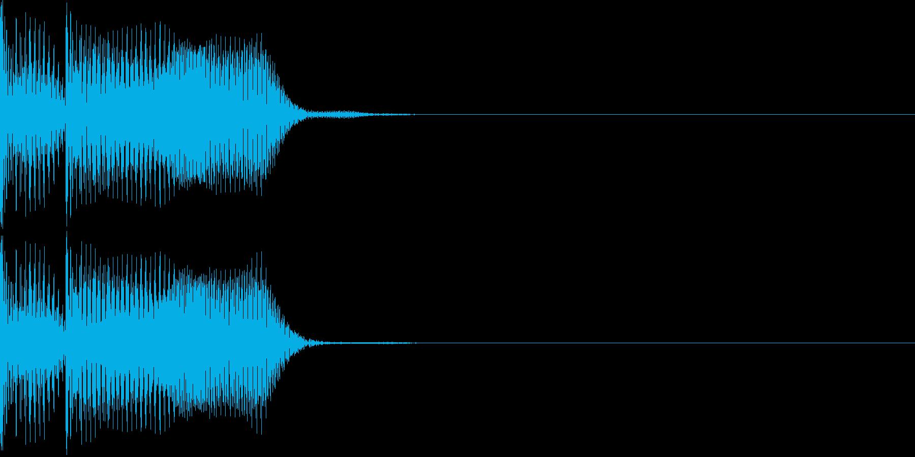 不正解音02の再生済みの波形