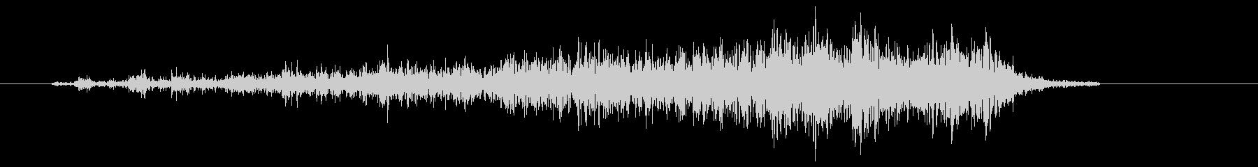 ビリーッ(紙を破く、低め)の未再生の波形