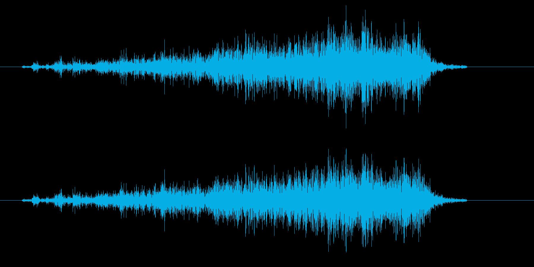 ビリーッ(紙を破く、低め)の再生済みの波形