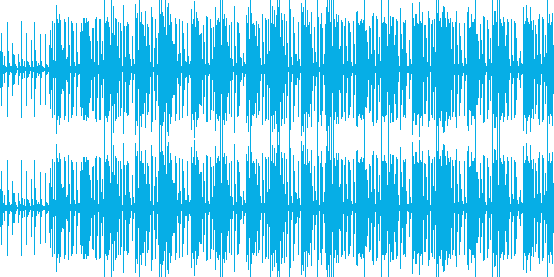 【日常系ミドルテンポファンク】の再生済みの波形