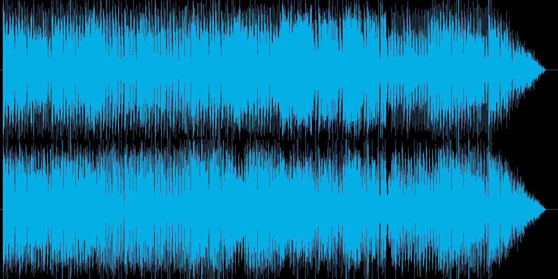 やんちゃな犬が縦横無尽に走るイメージの再生済みの波形