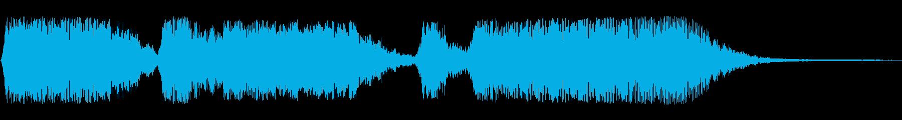 オープニング等シンセサイザーの効果音の再生済みの波形