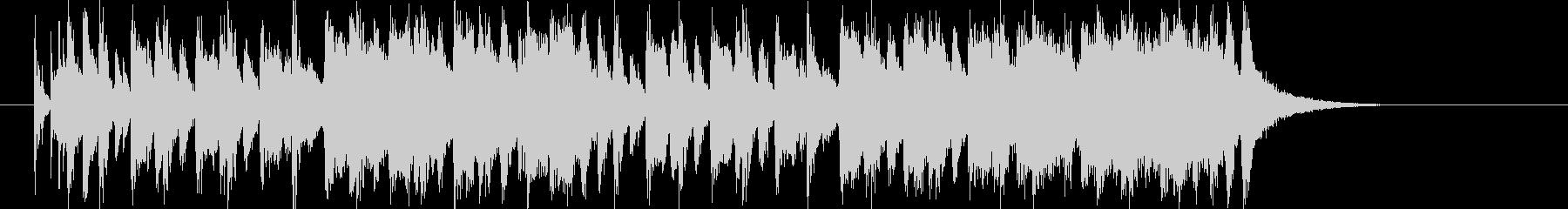 明るいピアノのポップ曲の未再生の波形