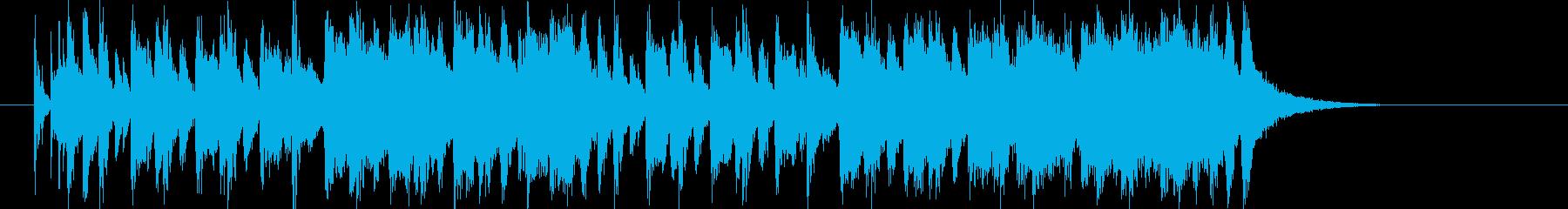 明るいピアノのポップ曲の再生済みの波形