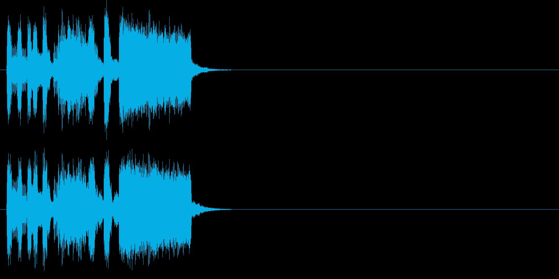 オープニング アタック クイズ 場面転換の再生済みの波形